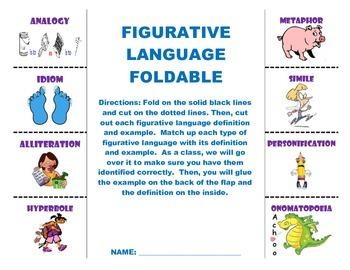 Figurative language foldable pdf file