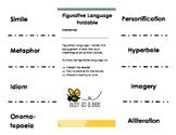 "Figurative Language Foldable: 8.5 x 11"""