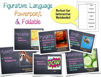 Figurative Language Foldable & Powerpoint {Perfect for Interactive Notebooks}