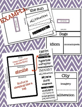 Figurative Language Foldables!  20+ Styles.  Common Core Aligned