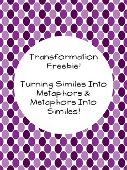Figurative Language Freebie: Similes & Metaphors