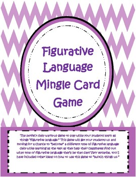 Figurative Language: The Silent Mingle Game for Learning F