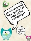 "Figurative Language Game ""I Have Who Has"""