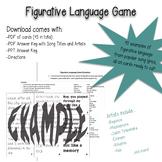 Figurative Language Game with Popular Song Lyrics