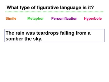Figurative Language Game/Quiz