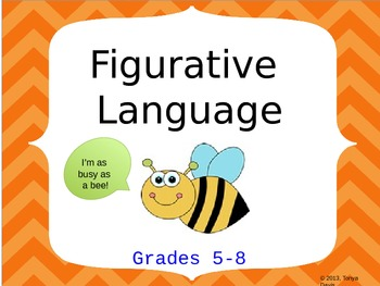 Figurative Language:  Grades 5-8