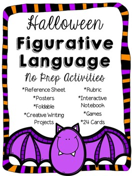 Figurative Language Halloween Activities and Creative Writing Pack
