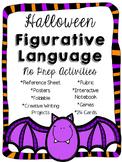 Figurative Language Halloween Activities and Creative Writ
