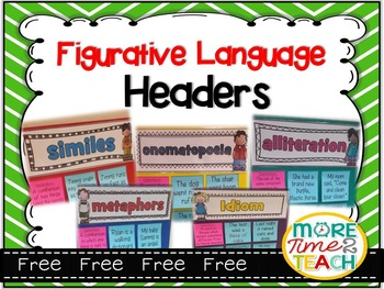 Figurative Language Headers {FREE}