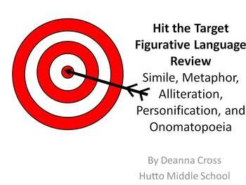 Figurative Language - Hit the Target Game