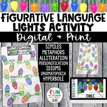 Figurative Language Holiday Light Craftivity {Similes, Metaphors, Idioms & MORE}
