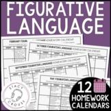 Figurative Language Homework Middle School High School Speech Therapy