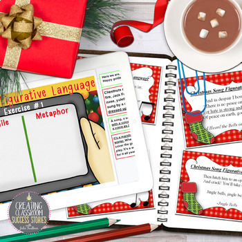 Christmas Carols Figurative Language Christmas Activity