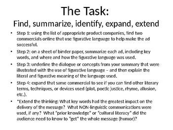 Figurative Language - Humor Task