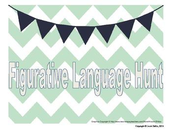 Figurative Language Hunt- Common Core ELA RL.4, L.5
