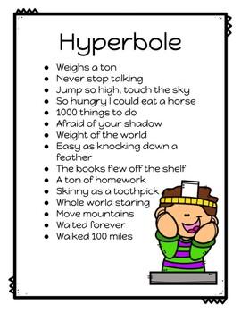 Figurative Language: Hyperbole Headband Game