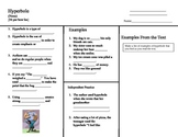 Figurative Language:  Hyperbole Lesson Sheet