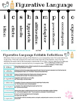 Figurative Language (ICSHAMPOO) foldable