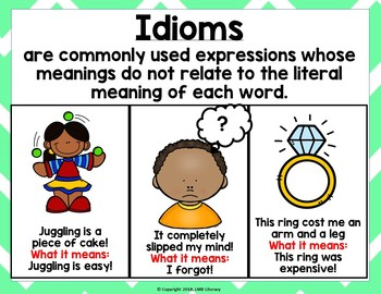 Figurative Language IDIOMS Free Resource