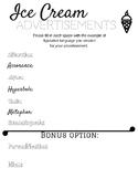 Figurative Language Ice Cream Advertisements