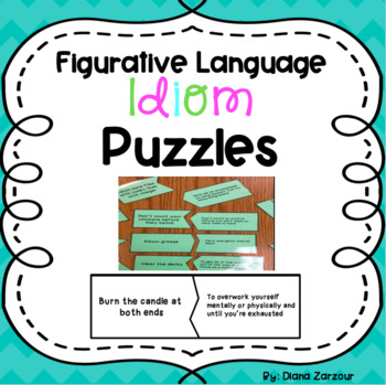 Figurative Language Idiom Matching Puzzles