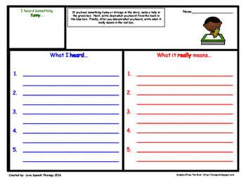 Figurative Language & Idiom Worksheet Helper - No Prep!