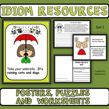 Figurative Language-Idiom Resources Set 1