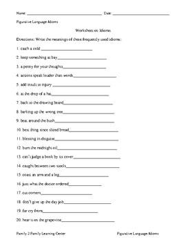 Figurative Language-Idioms
