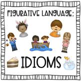 Figurative Language Idioms Coloring Book Posters Visuals