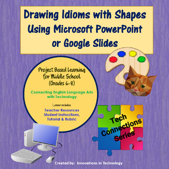 Figurative Language: Idioms - Drawing using Shapes in PowerPoint or Slides