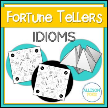 Figurative Language: Idioms Fortune Tellers