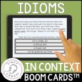Figurative Language: Idioms In Context BOOM CARDS™