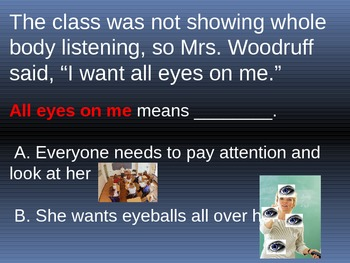 Figurative Language-Idioms Interactive Powerpoint Presentation