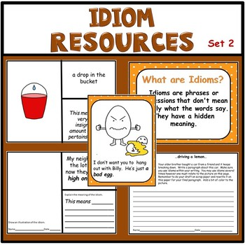 Figurative Language - Idiom Activities Set 2