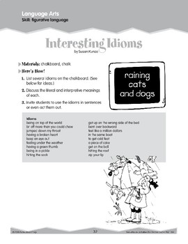 Figurative Language: Idioms (Ten-Minute Activities)
