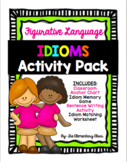 Figurative Language Idioms Worksheets and Matching Game