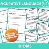Idioms in Context Cards and Worksheet for Speech Therapy