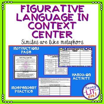 Figurative Language In Context Center or Activity - RL.5.4