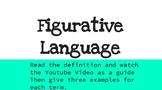 Figurative Language Independent Google Slide Activity