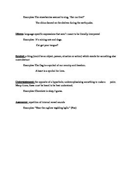 Figurative Language Information