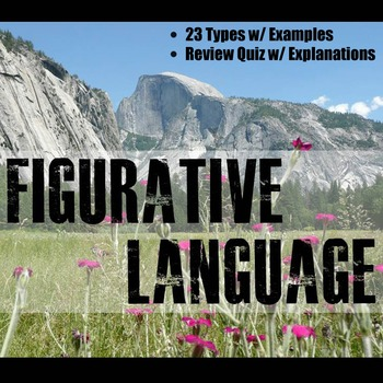 Figurative Language Instructional PowerPoint
