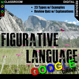 Figurative Language Instructional Slideshow (Digital Dista