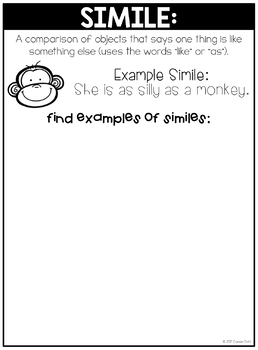 Figurative Language Interactive Notebook