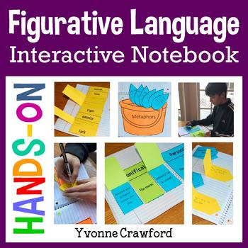 Figurative Language Interactive Notebook with Scaffolded Notes