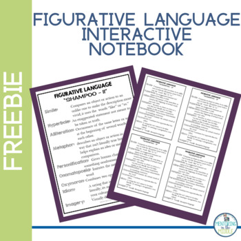 Figurative Language Interactive Notebook Freebie