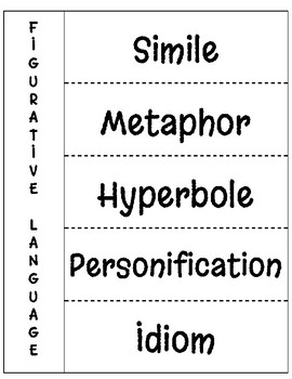 Figurative Language - Interactive Notebook Page