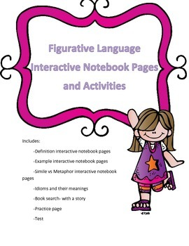 Figurative Language Interactive Notebook Pages and Activities