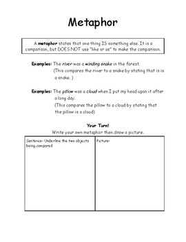 Figurative Language Interactive Notes