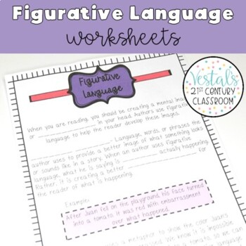Figurative Language Interactive Notes & Worksheets