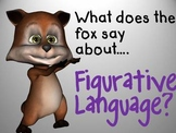"""Figurative Language Interactive Powerpoint - """"What Does the Fox Say?"""" theme"""